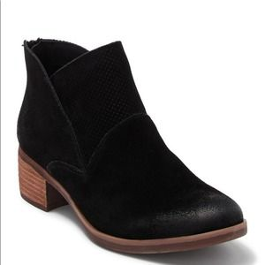 Korks Maldon Suede Perforated Bootie Black Size 9.5 NEW